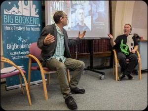 John Lake and Mick McCann at the Big Bookend festival 2014. Photo by Lloyd Spencer
