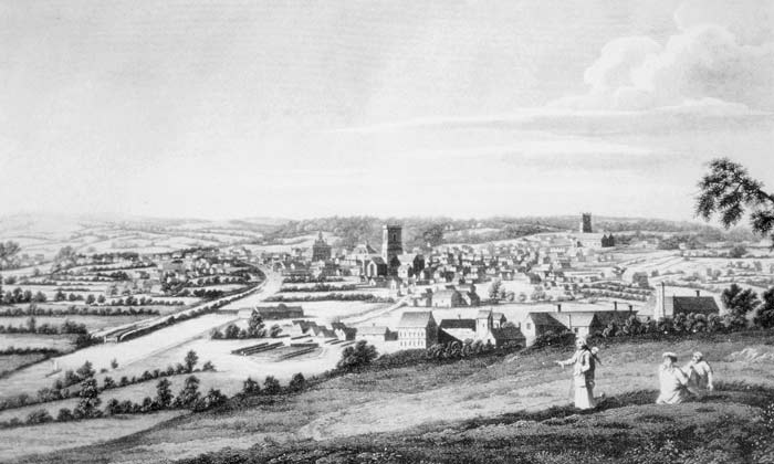 Francis Place's 1715 Prospect of Leeds. Courtesy of the Thoresby Society