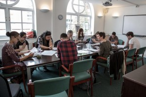 Writing workshop with SJ Bradley. Photo: Rich Benn