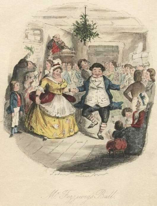 The original John artwork for Dickens' 'A Christmas Carol'