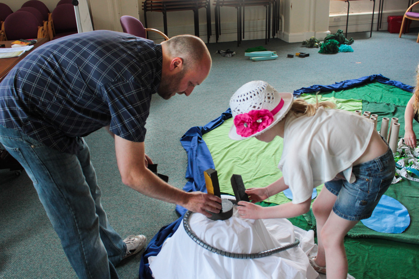 The Story-telling Adventure workshop with Daniel Ingram-Brown at the Leeds Big Bookend 2013