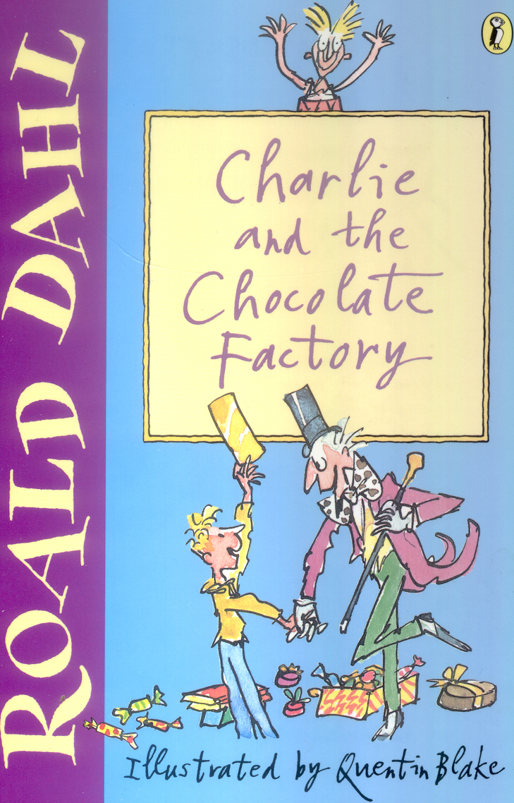 Jacket design of Charlie and The Chocolate Factory