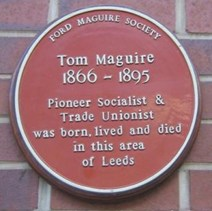 Plaque for Tom Maguire, 1866-1895 Photo credit: Unite the Union