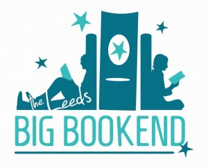 BIG BOOKEND LOGO TEALS ON WHITE