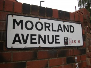 Moorland Avenue, Bell's home in Leeds, two minutes from the University