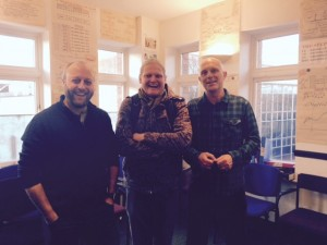 Dan (Writer), Simon (Director) and Graeme (Leader of Spacious Places)