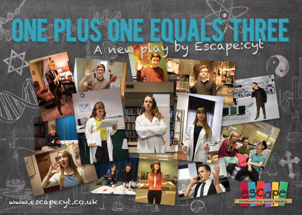 One Plus One Equals Three Flyer Front