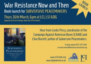 Subversive Peacemakers  Book Launch, 26 March, LCI