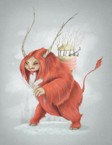 Krampus by Terry Whidborne © 2014