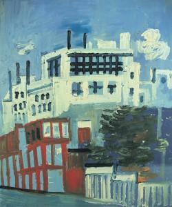 Joash Woodrow (1927-2006) City Centre, Leeds c. 1980 © The Bridgeman Art Library courtesy of the Joash Woodrow family.